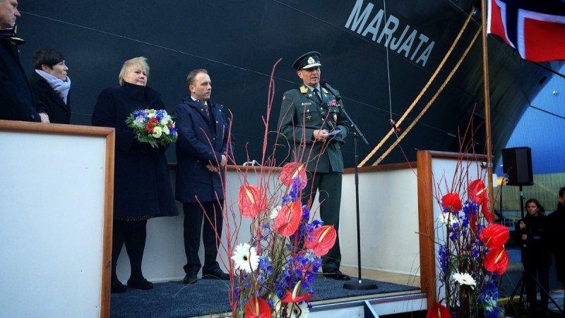 Крещение нового шпионского корабля. Foto: Remi Sagen / NRK